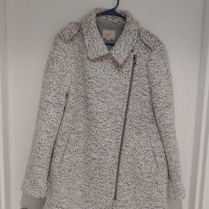 LOFT women's marled moto winter coat
